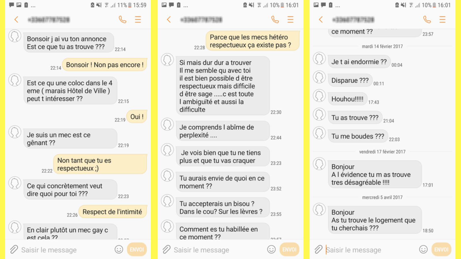 Drague lourde et harcèlement sexuel sur Leboncoin