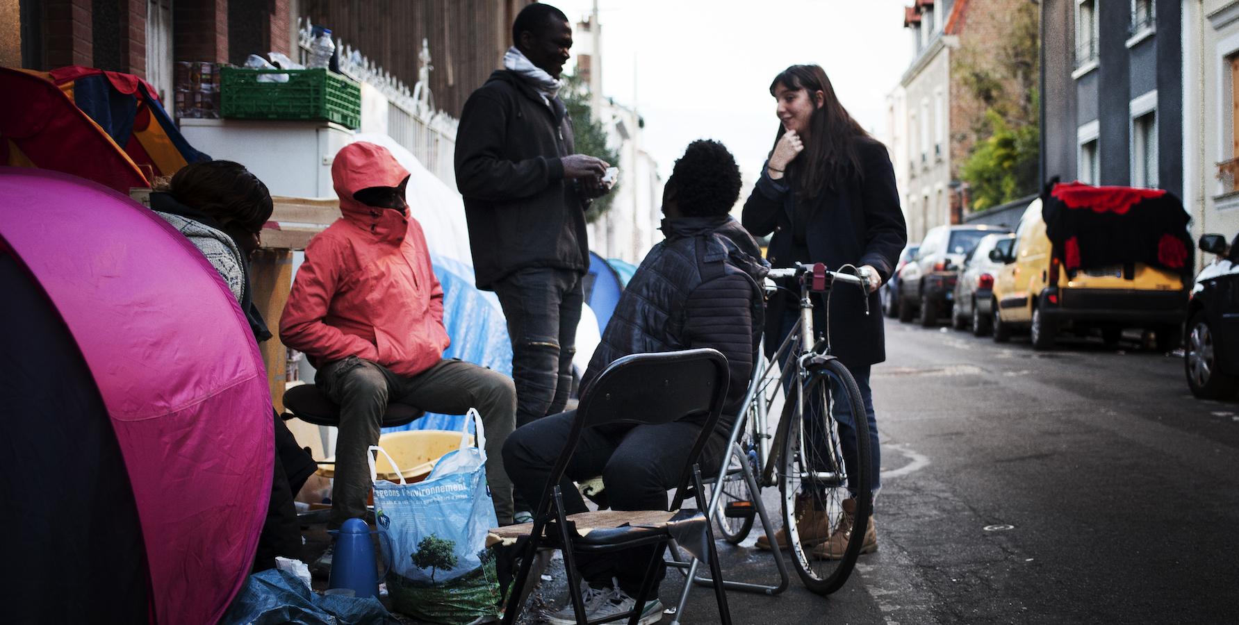 A Montreuil, les habitants solidaires des sans-pap' expulsés par la municipalité