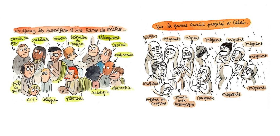 Yasmine Bouagga et Lisa Mandel dessinent la jungle de Calais