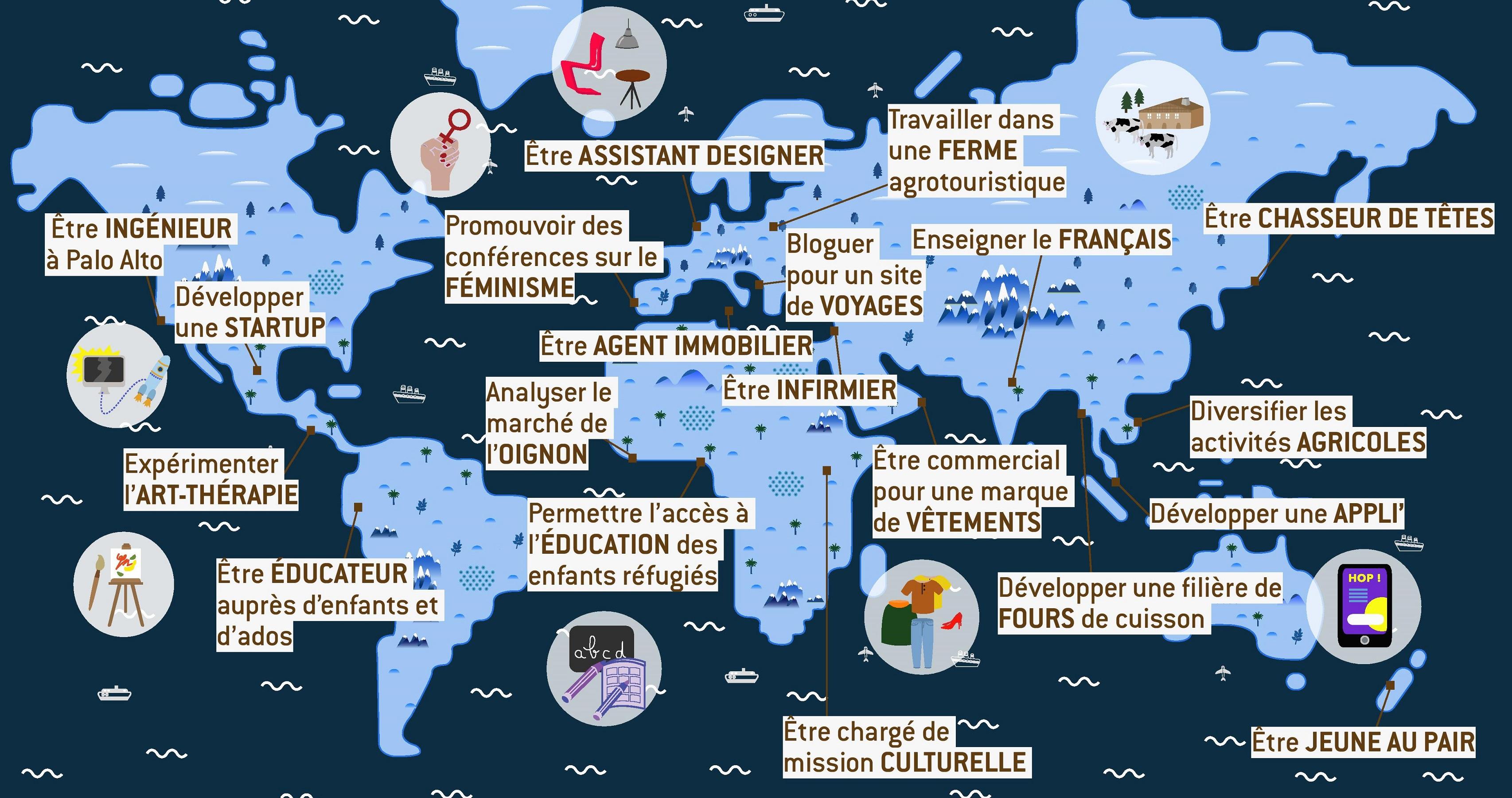 25 offres pour une première expérience pro au bout du monde