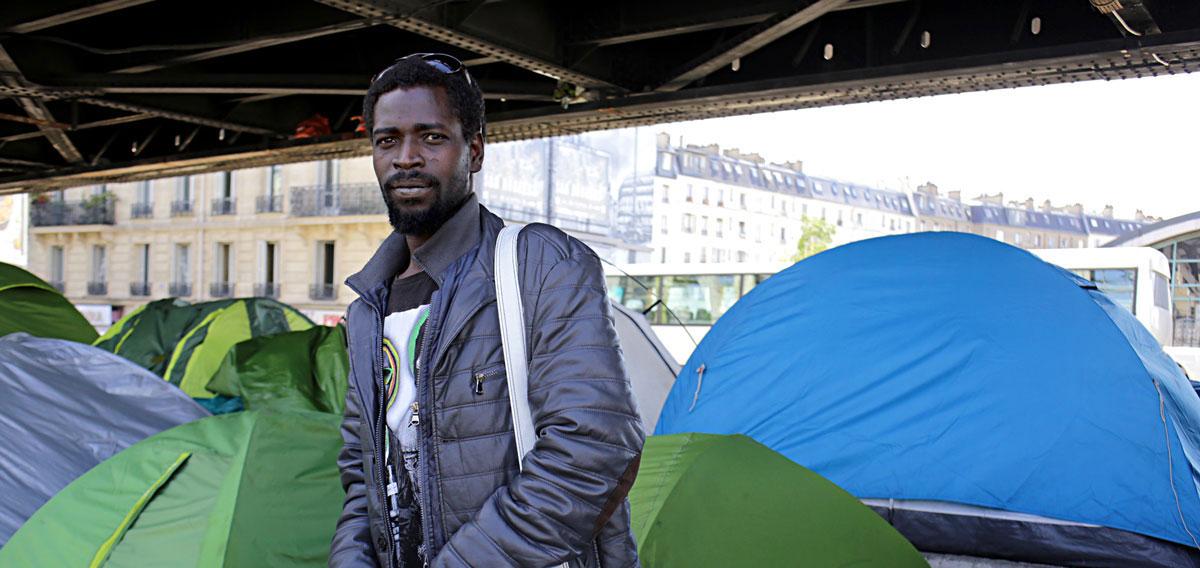 Un camp de réfugiés en plein Paris