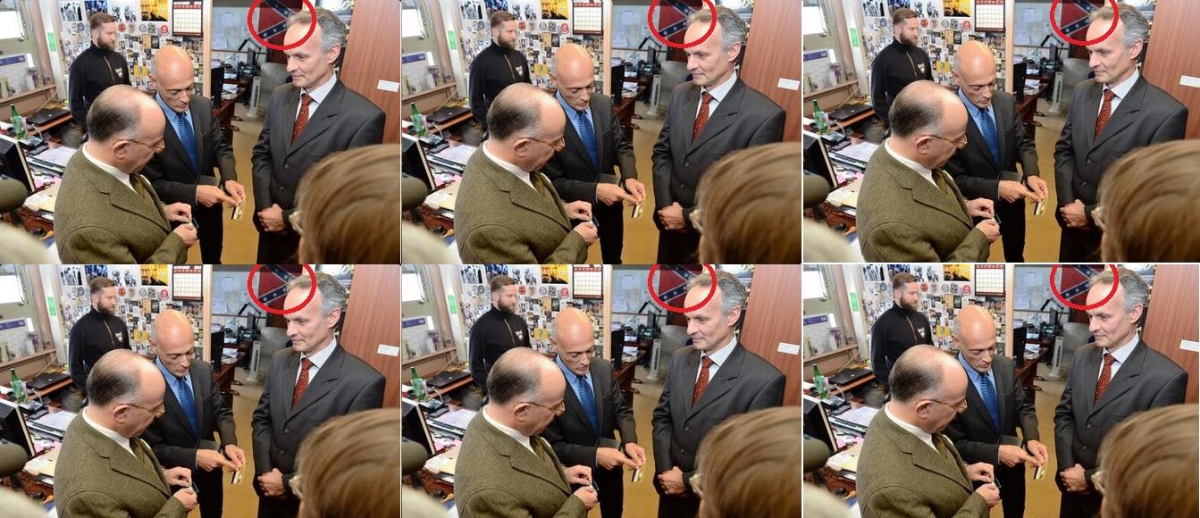 Que faisait le ministre de l int rieur devant un drapeau for Le ministre de l interieur