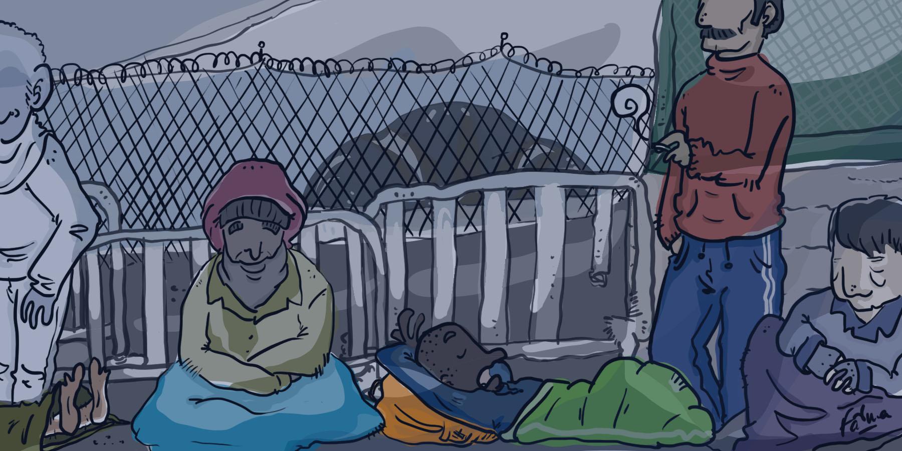 Camping, mafia et solidarité aux portes du centre pour migrants de la chapelle