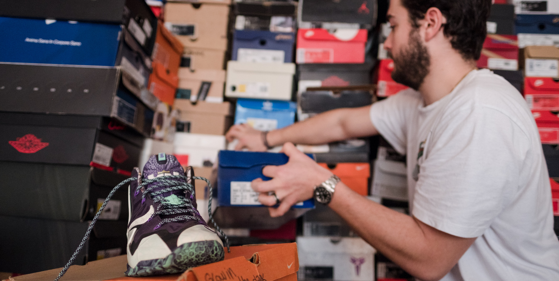 Dans le placard des passionnés de sneakers
