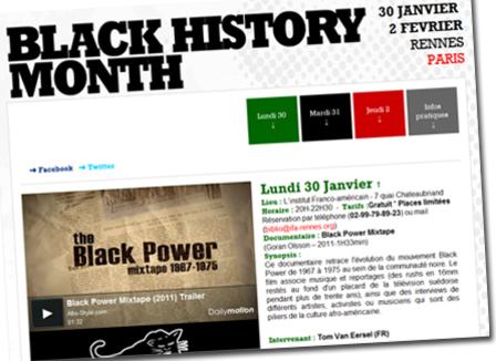 Le Black History Month fait sa première symbolique en France