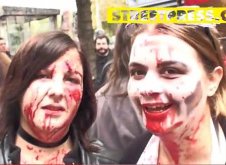"""Vidéo: La Zombie Walk, samedi pour """"la retraite à 600 ans"""""""