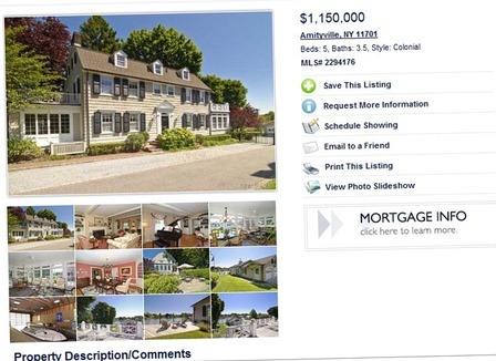Amityville la c l bre maison hant e en vente dans une for Vente maison par agence immobiliere