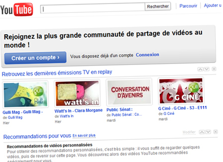Internet: 700 milliards de vues pour YouTube en 2010