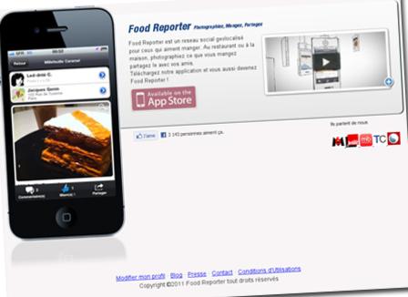 «Sur Facebook on fait des 'like', sur Food Reporter on fait des 'miam'»