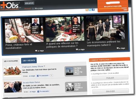 « Le Plus »: Le Nouvel Obs va lancer son site participatif, un LePost like… qui gagne de l'argent