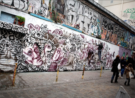 Le 20e va-t-il vraiment devenir « l'arrondissement du graffiti à Paris » ?