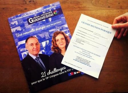 Le tract UMP qui drague les juifs du 19e arrondissement