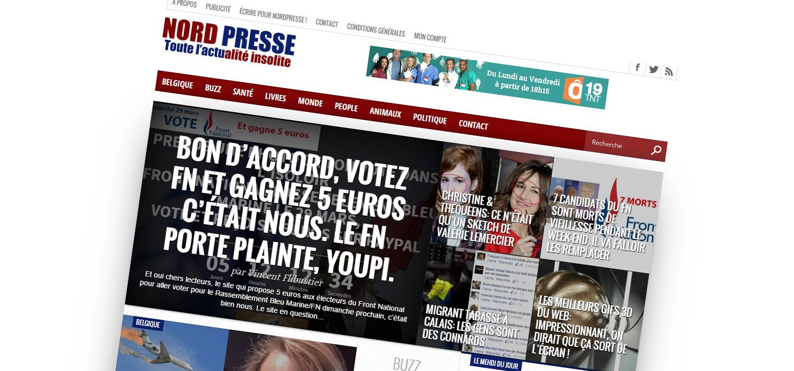 NordPresse, le cousin belge et demeuré du Gorafi