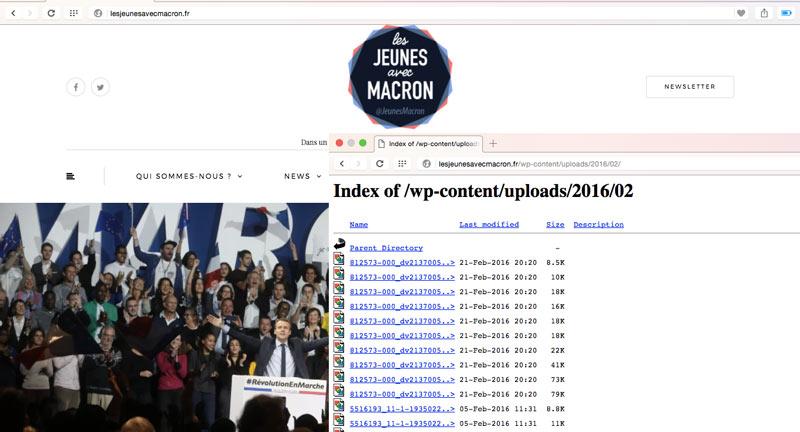 Jeunes avec Macron bug