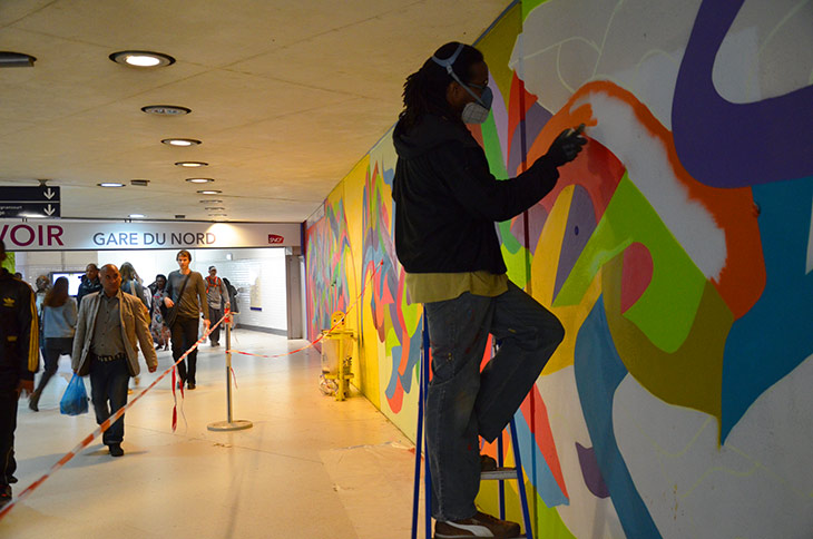Street Art Gare du Nord Kool Koor