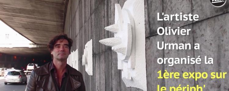 Un artiste a organisé la première expo d'art contemporain sur le périphérique