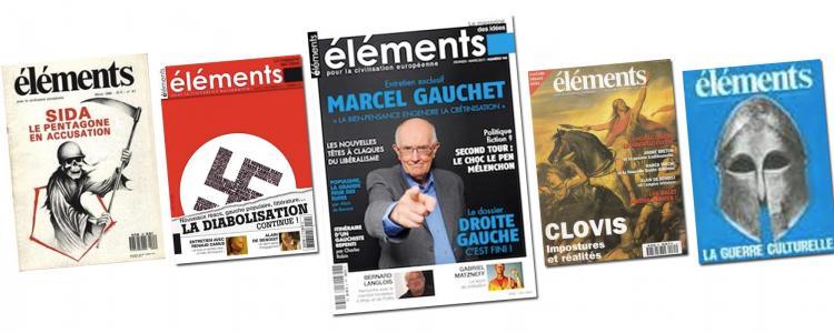 Marcel Gauchet en couverture de la revue d'extrême droite « Éléments »