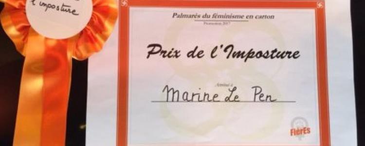 Marine Le Pen : Grand Prix de l'Imposture féministe