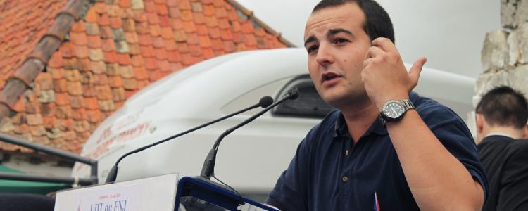 David Rachline, un ancien proche de Soral nommé directeur de campagne de Marine Le Pen