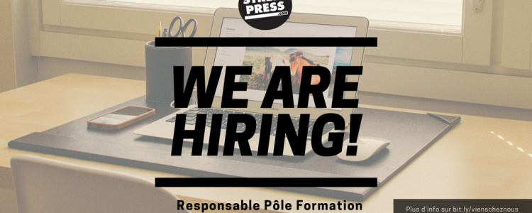 StreetPress recrute son/sa responsable du pôle formation