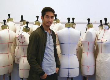 Sami, réfugié afghan et protégé de Jean Paul Gaultier