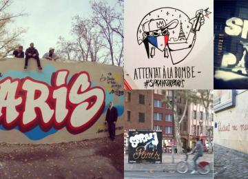 Après les attentats, les graffeurs sortent leurs bombes
