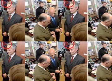 Que faisait le ministre de l'Intérieur devant un drapeau confédéré ?