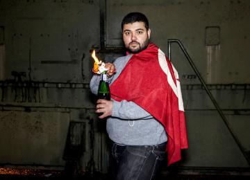 Le président du parti pirate qui lançait des cocktails molotov