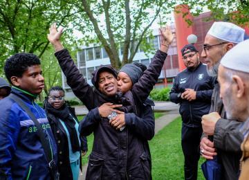 A Massy, une mobilisation pacifique après le décès de Curtis