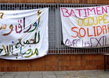 Des exilés campent à l'université de Saint-Denis