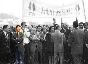 Que faisait Christian Estrosi sous une banderole du FN ?