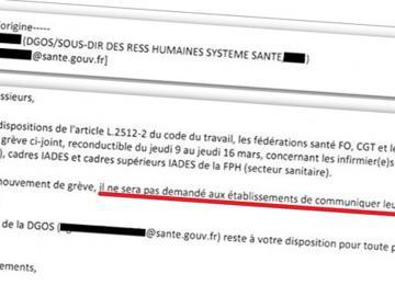 Documents : le ministère de la santé censure les chiffres de la grève des infirmiers-anesthésistes