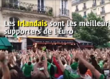 Les Irlandais sont les meilleurs supporters de l'Euro
