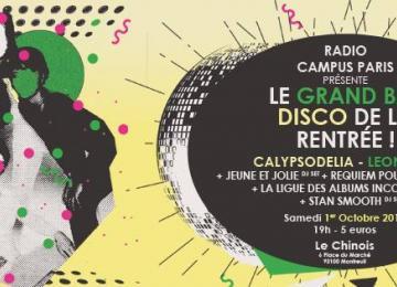 RadioCampus Paris fait son Grand Bal Disco de la Rentrée | 1er octobre au Chinois
